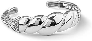 Sterling Silver Twist Rope Cuff Bracelet Size S, M or L