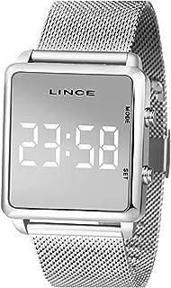 Relógio Lince Feminino Ref: Mdm4619l Bxsx Digital LED Prateado
