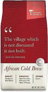 Cold Brew Coffee Coarsely Ground, Africa Kenyan Blend, Medium Dark Roast, Premium Arabica Coffee Beans (12oz)
