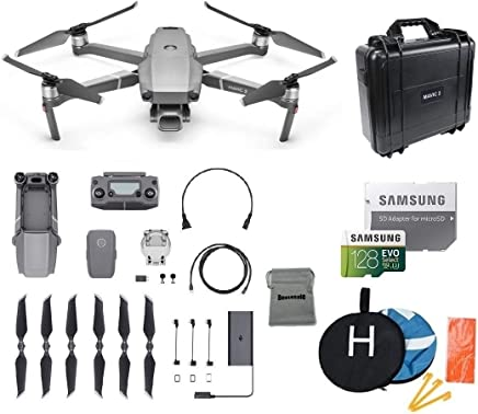 $1499 Get DJI Mavic 2 Pro Drone Collapsible Quadcopter Bundle, Waterproof Hard Carrying Case, Landing Pad, 128GB SD Card Supports 4K Video