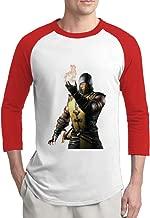 ReBorn Mortal X Kombat Men's Custom Raglan Tshirt Red