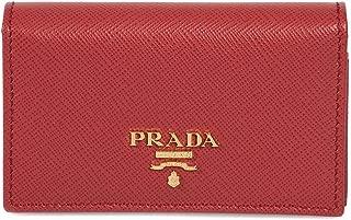 Prada Red Saffiano Leather Credit Card Holder 1MC122