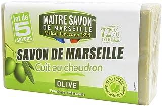Maitre Savon de Marseille(メートル・サボン・ド・マルセイユ) サボン・ド・マルセイユ オリーブ 100g×5個