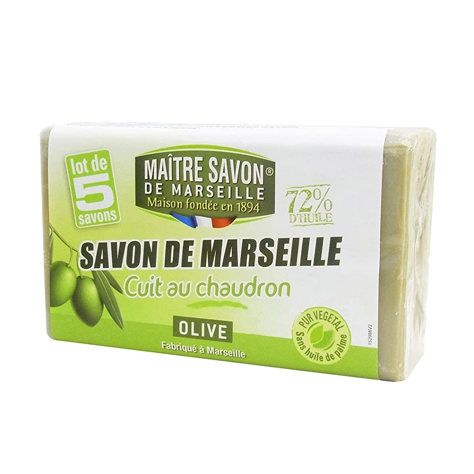 救急車説明する平凡Maitre Savon de Marseille(メートル?サボン?ド?マルセイユ) サボン?ド?マルセイユ オリーブ 100g×5個