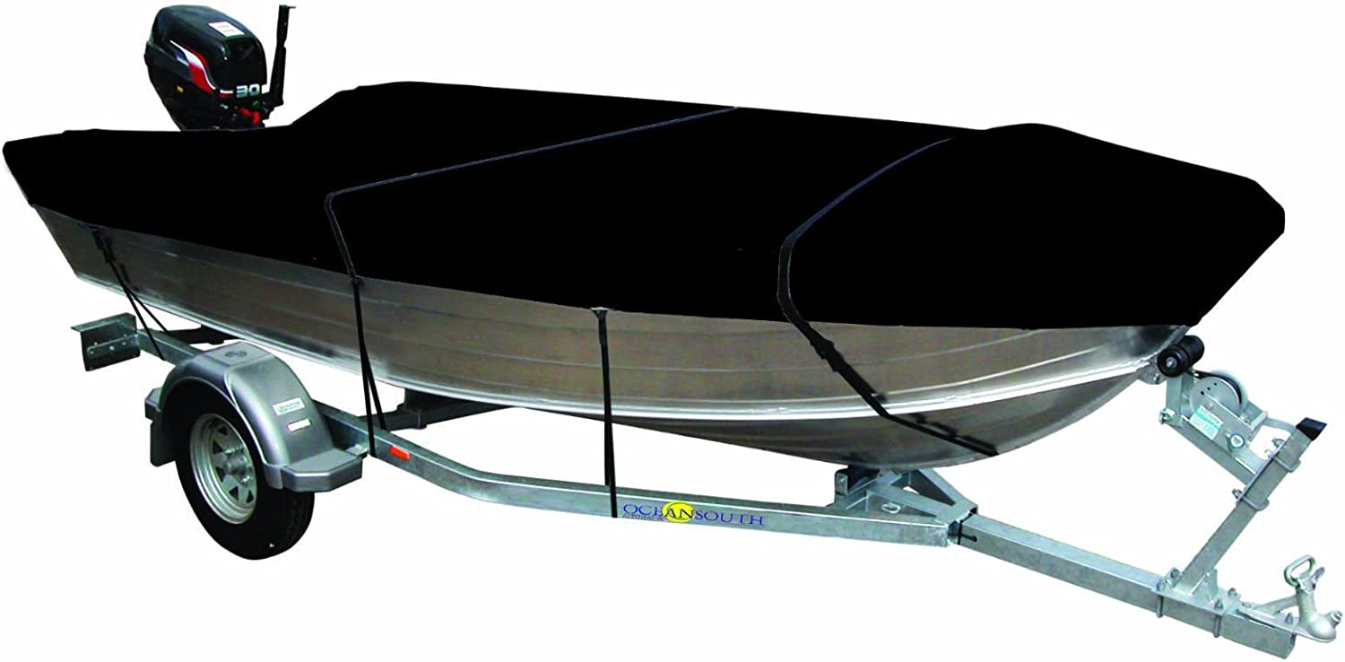 Cyclone 4.75.0m Trailerable Open Boat Cover Black Waterproof Marine