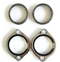 Chrome Exhaust Flange Kit With Tapered Gaskets Harley Evolution 1985 Up