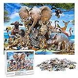 KidsPark Puzzle 1000 Piezas Adultos, Animal Puzzle Adultos Jigsaw Puzzle Educa 1000 Piezas para Adolescentes Niño Mayores de 14 años