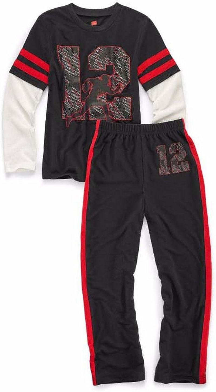 6019A Astronaut Print Hanes Boys Sleepwear 2-Piece Set