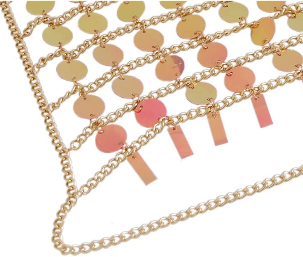 CHXISHOP Sexy Body Chain Color Matching Personality Radiant Vest