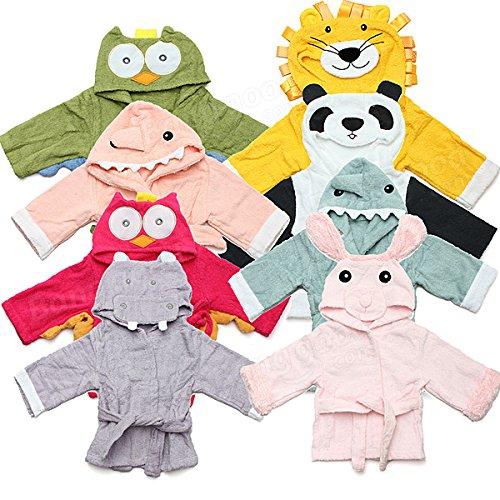 Bazaar Baby Nighty pyjama kinderen peuter dier Cartoon Badjas handdoek