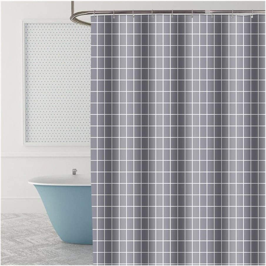 RQBHD Modern Ranking TOP2 Shower Curtains Geometric Flowers Cartoon Max 63% OFF Bath Wate