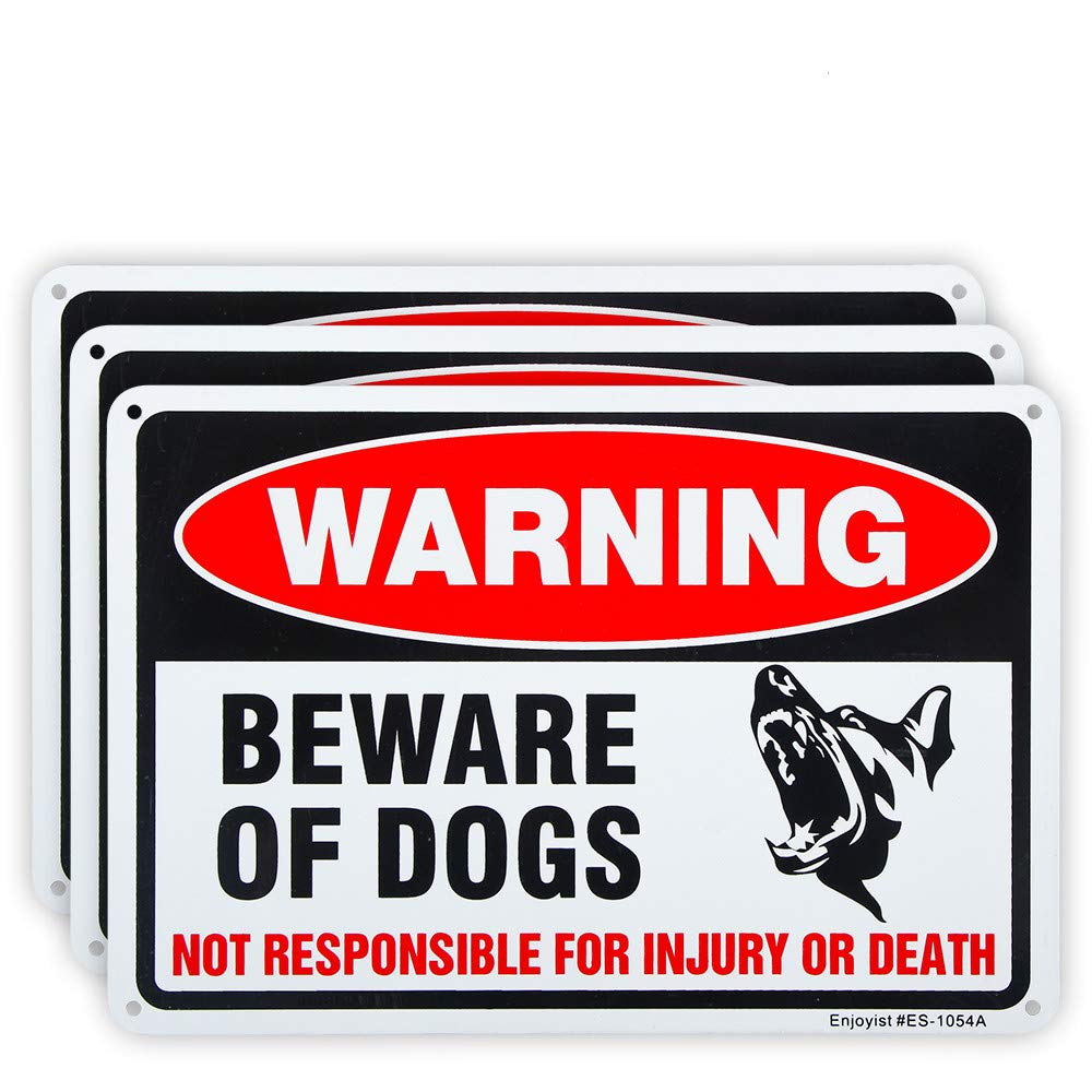 3 Pack Ranking TOP4 Beware of Dog Sign Free 10