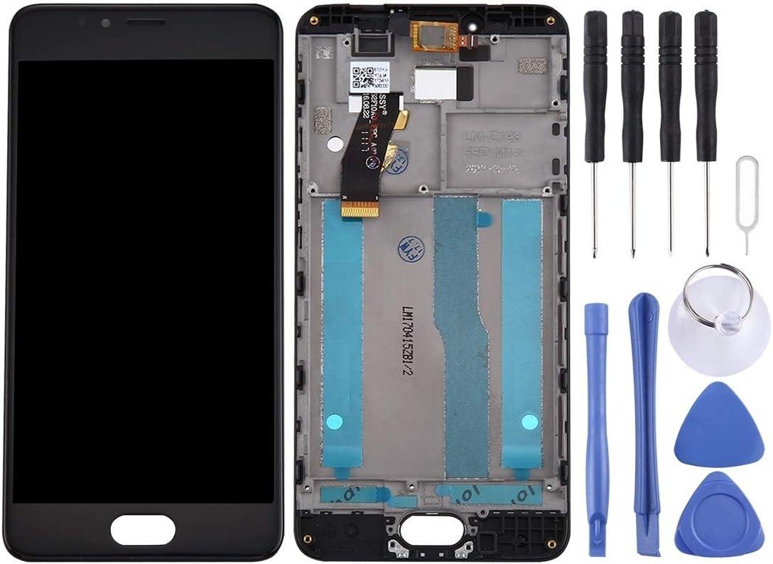 GGQQ TKYY AYD para MEZU M5S / MEILAN 5S Pantalla LCD y digitalizador con Marco (Color : Black)