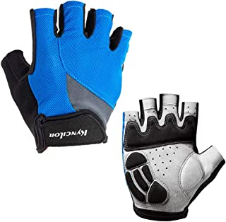 Conthfut Cycling Gloves with Anti-Slip Shock-Absorbing Pad Half Finger