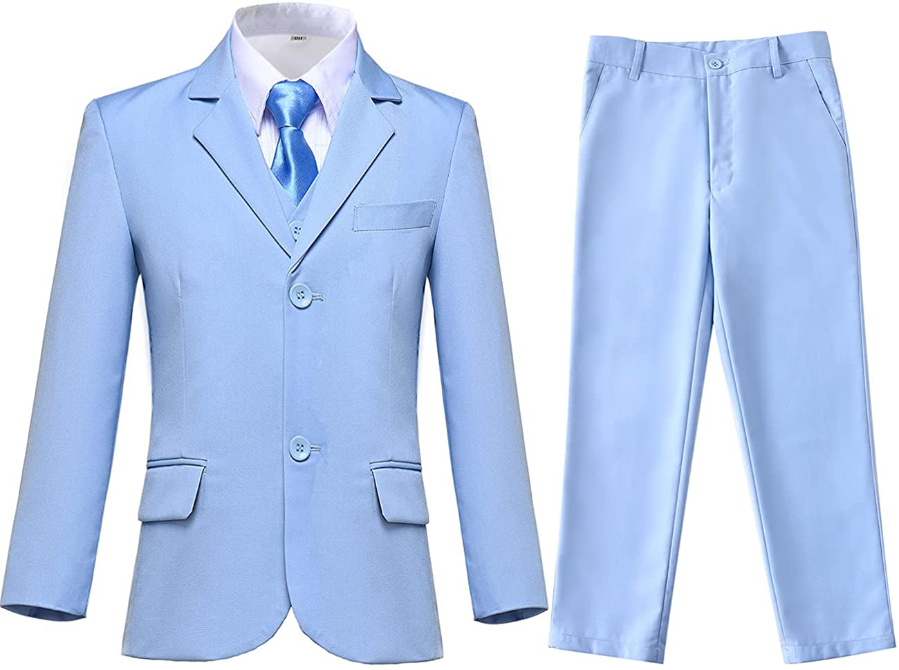 Lycody Boys Suits Kids Formal 5 Piece Dress Suit Set for Weddings Complete Outfit