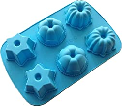 Allforhome 6 Star Pumpkin Silicone Cake Baking Mold Cake Pans Muffin Cups Handmade Soap Molds Bath Bomb Biscuit Chocolate Craft Art DIY Mold