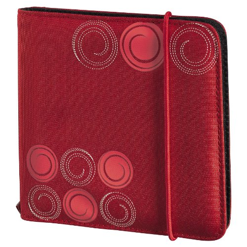 Hama Up to fashion, Custodia in nylon per 24 CD/DVD, colore: Rosso