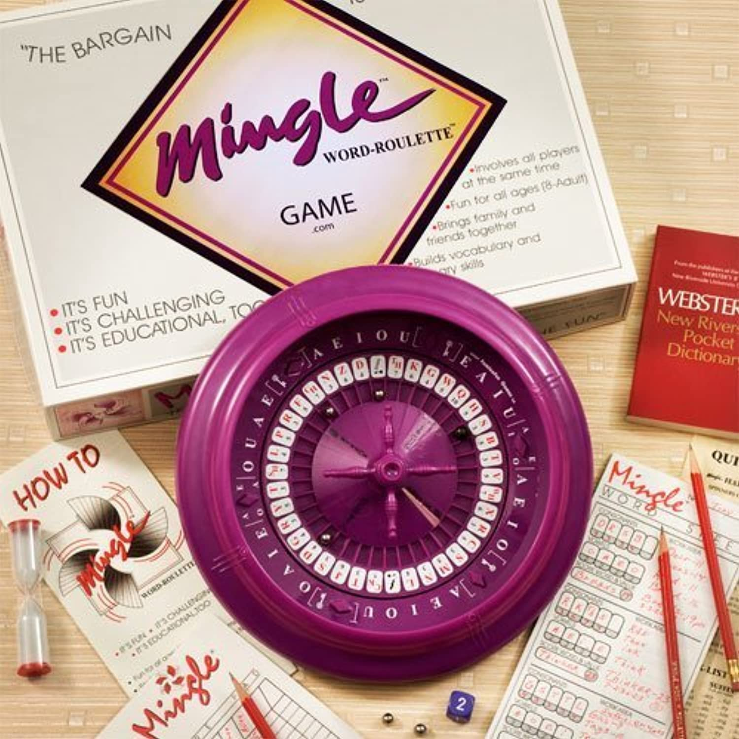 Mingle Word-Roulette Game... Home & School Edition by Mingle Word-Roulette Game