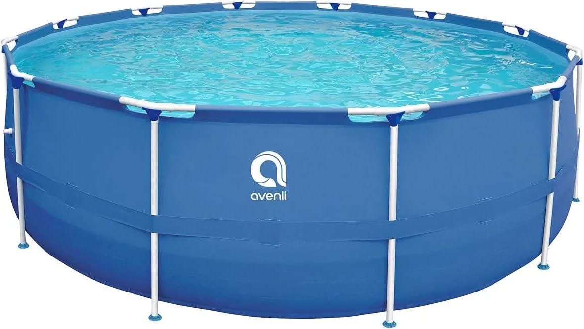 Avenli SteelSuper Stahlramen piscina elevada 300 x 76 cm piscina con marco piscina jardín piscina sin bomba
