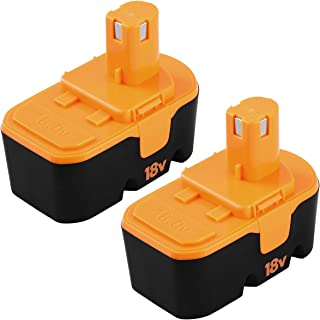 Fhybat for Ryobi 18v Battery Replacement ONE+ P100 P101 ABP1801 ABP1803 BPP1820 130224007..