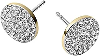 2628c8d7c Michael Kors MKJ3895 Gold Tone Disc Stud Earrings with Crystal Pave