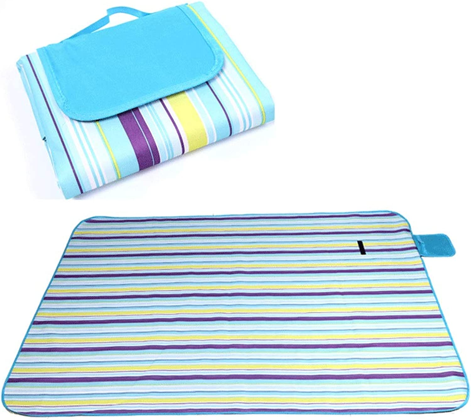 DFRgj Camping Picnic Mat with Strap, Perfect for Picnics, Beaches, RV and Outings, WeatherProof and Mold Mildew Resistant (color   D)