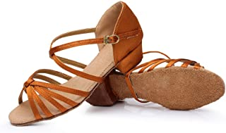 lcky Latin Salsa Barba Practice Shoes Women's Ballroom Dance Shoes