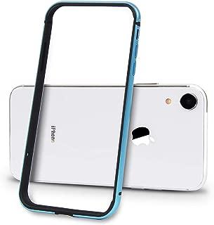 Imikoko iPhoneXR ケース case 保護カバー バンパー アルミバンパー 軽量TPU素材 電波影響無し おしゃれ かわいい 衝撃吸収 色合い アイフォンXR (iPhone XR ブルー)