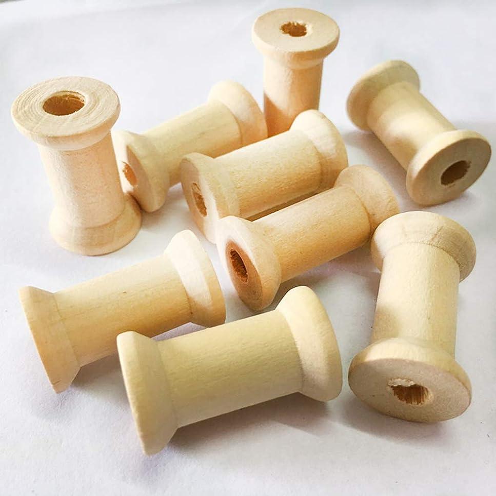 長椅子ゆるいドキュメンタリーRefoiner 木製 スプール 天然木 糸スプール 中空 木製スプール 縫製用ツール スペア 糸巻き 縫製ボビン 手作り人形 おもちゃ 20個