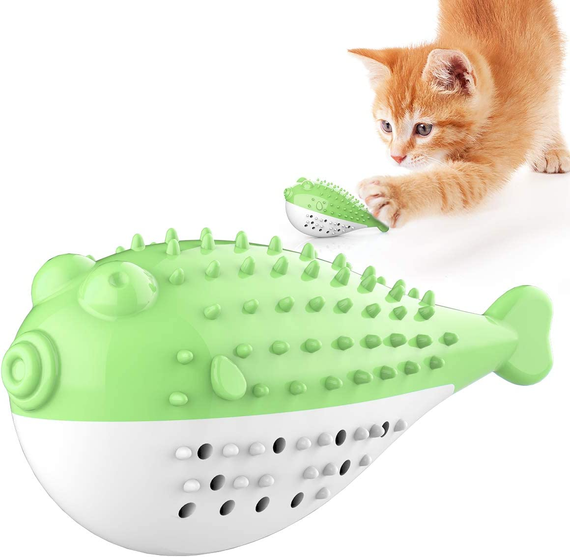 BeiNing Cat It Sacramento Mall is very popular Toothbrush Catnip Toy Bell Built-in with Interactiv