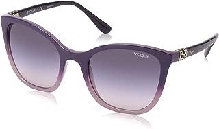 VOGUE Women's 0vo5243sb Square Sunglasses, top dark violet gradient opal, 53.0 mm