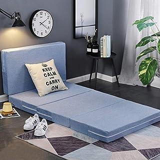 Colchón de espuma viscoelástica de 4 pulgadas de grosor, plegable, lavable, para dormir, individual, individual, individual, individual, individual, individual, 2 y 2 camas