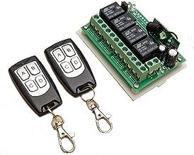 INSMA Draadloze afstandsbediening 433 MHz lange afstanden 12 V 4CH draadloze afstandsbediening schakelaar relaisschakelaar...