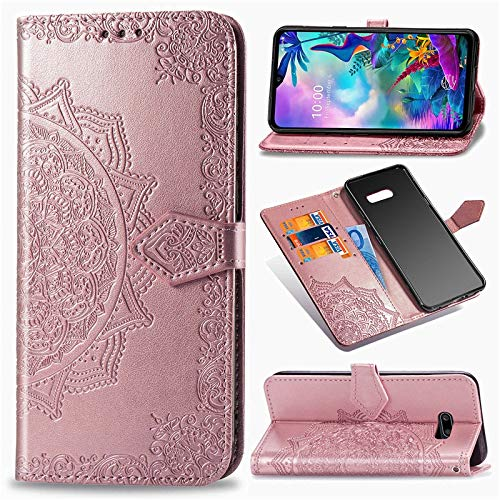 Wallets & Monedero Chengxin For LG G8X Thinq 6,4 Pulgadas, Floral FILP de la Carpeta de Cuero del Caso for LG G8X Thinq G8 X Thinq (Color : Pink, Material : For LG G8X ThinQ)
