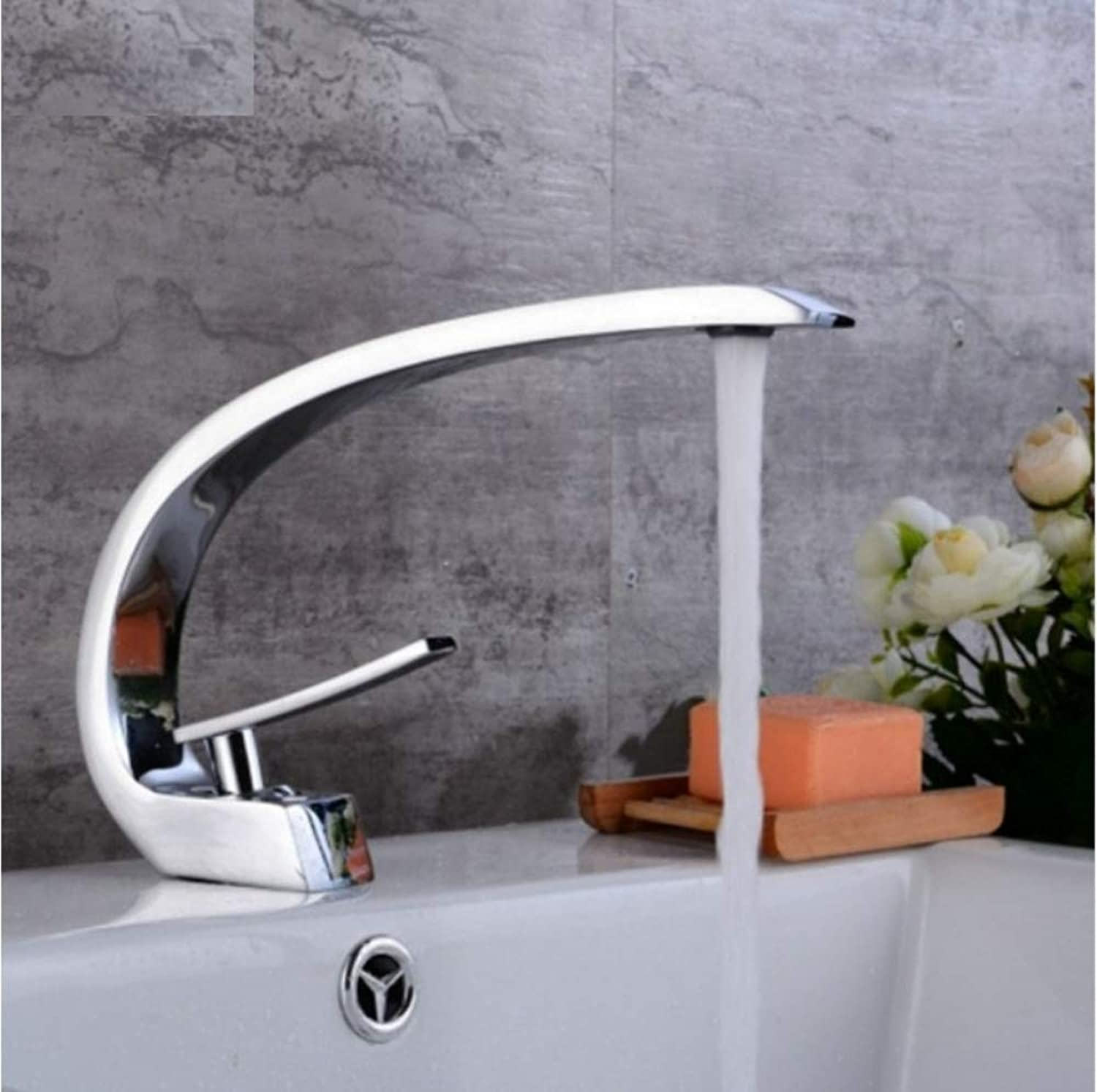 Dwthh Bathroom Basin Sink Faucet Hot and Cold Water Mixer Washbasin Faucets Single Handle Single Hole for Bathroom