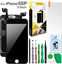 Compatiable with iPhone 6S Plus Screen Replacement Black 5.5inch,Hkhuibang LCD Display 3D Touch Screen Digitizer Full Frame Assembly with OEM Front Camera Proximity Sensor Ear Speaker+Repair Tools Kit