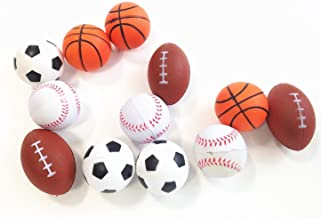 dazzling toys Mini Sports Balls Set of 12 Sports Balls for Kids - Soccer Ball, Basketball, Football, Tennis Ball (1 Dozen)