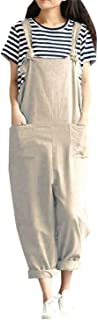 Pockets Dungaree Baggy Jumpsuits Overalls Fashion Strappy Loose Long Harem Pants Bib Trousers 5XL