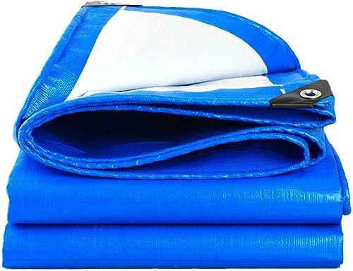 JHDUID Bache épaisse bache PE bache imperméable Bleu Feuille bache de Couverture de qualité supérieure pour Le Camping en Plein air (3 x 4 m),8  10m