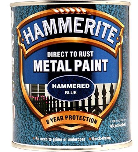 Hammerite Metallfarben Hammered 750ml Blau