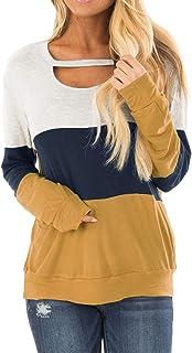 تاپ تی شرت آستین بلند و تی شرت آستین بلند تی شرت بلوک رنگی زنانه تاپ تاپ