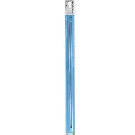 Milward 2222502 Aiguilles à Tricoter à Pointe Unique, 35cm, Gris Argenté, 2,5mm