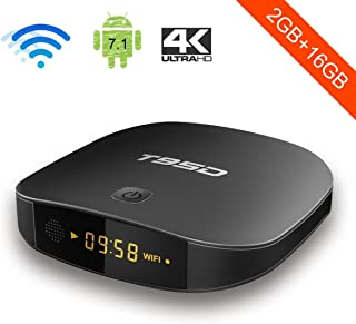 Android TV Box, YAGALA T95D Android 7.1 RK3229 Quad Core 2GB RAM 16GB ROM with 4K Full HD WiFi Bluetooth HDMI 2.0 Ethernet