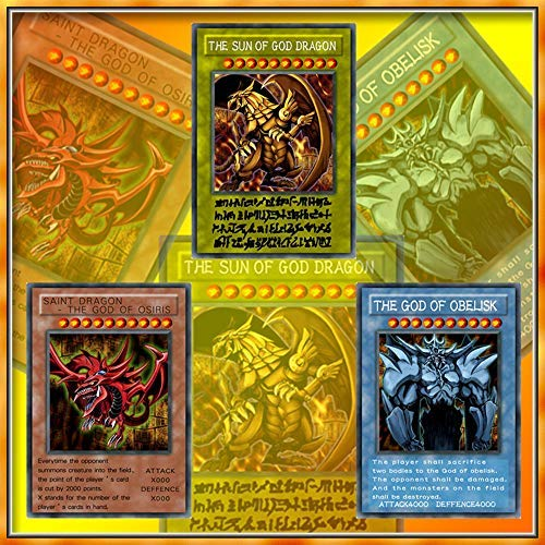 Yugioh World Contest Collection Yugioh Rare Card God The Card Anime Game Cards YU-GI-OH Egyptian God Cards Collection Cards