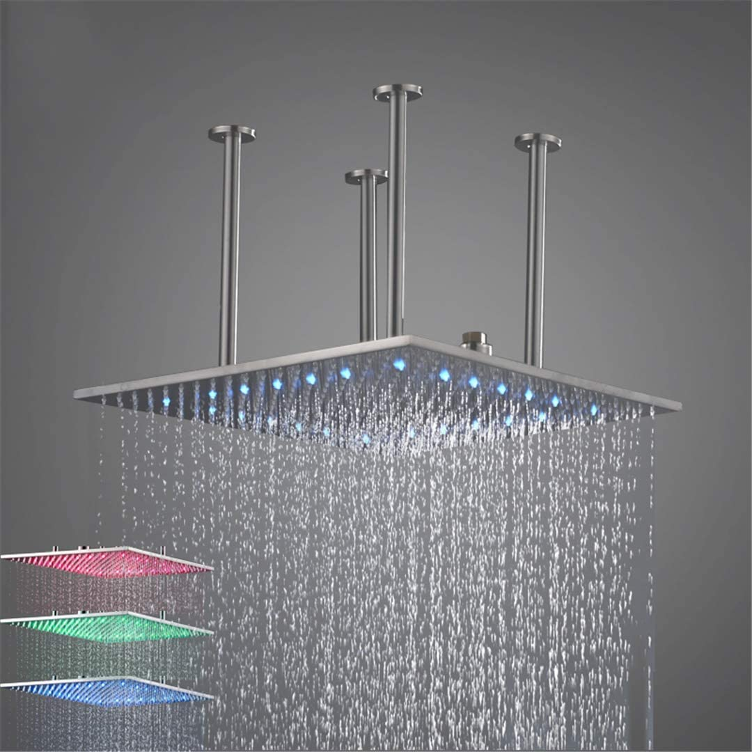 LIMEI-ZEN Square Shower San Antonio Mall Head New arrival with 20 Stainless Ceilin Steel Inch