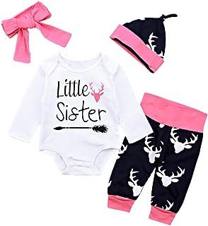 6c2ee3e874 Winsummer Newborn Baby Boy Girl Xmas Newyear Costume Outfits Long Sleeve  Romper Bodysuit +Pants+