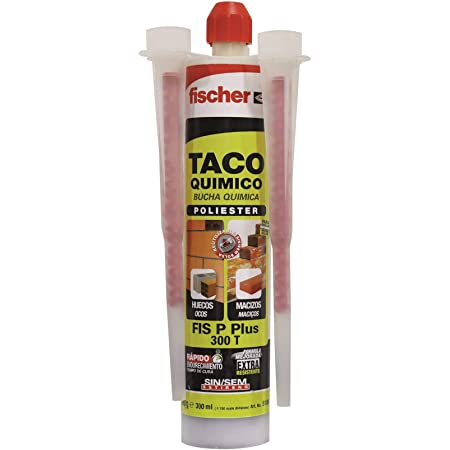 fischer - taco quimico para hormigon, ladrillo hueco,varilla roscada. Montaje toldos, placas solares, marquesinas (300ml)