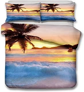 Sunset Beach 3D Bedding Set Twin Full Queen King Bedclothes Duvet Cover Set Bedlinen Popular Bedding.
