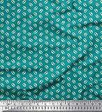 Soimoi Verde anatra di cotone tessuto dot & salatini cibo tessuto stampato da metro 56 pollici larghi