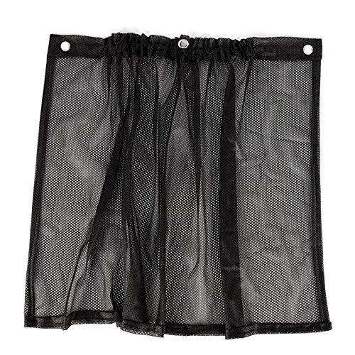 Parasol para parabrisas de coche - Bloquea los rayos UV Protector de visera solar, 2 piezas de protección para el coche Cortina de ventana Parasol con ventosa Negro Universal Car Parasol Bloque de pro